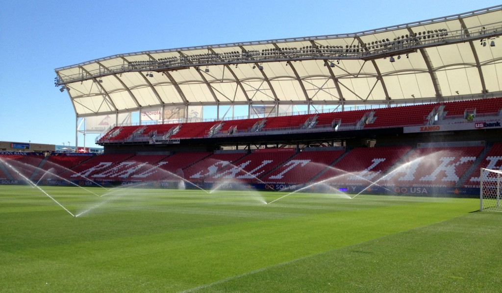 Real Salt Lake's Rio Tinto Stadium opened in October 2008 and has become known as one of the toughest places to play in Major League Soccer. (Photo: Liviu Bird/SoccerWire.com)