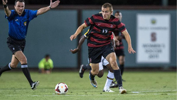 Jordan Morris. Photo property of StanfordPhoto.com.