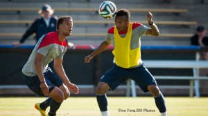 Timothy-Chandler,-Julian-Green-in-USMNT-training
