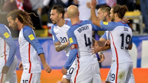 Columbus, OH - March 29, 2016: The U.S. Men's National team go up 2-0 over Guatemala with a Geoff Cameron goal during first half action in World Cup Qualifying play at MAPFRE Stadium.